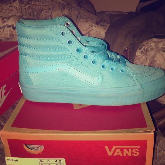 Vans Shoes   Teal High Top Vans Size 55